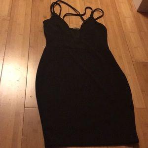 Nasty Gal black sexy low cut dress